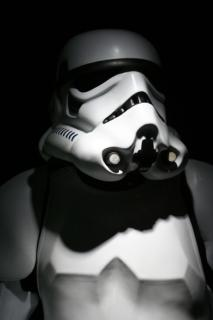 Lily: And if that doesnt drive them away, there is always your life-size storm trooper.